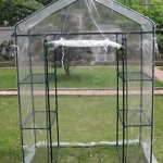 Small-3-tier-Walk-in-Greenhouse-with-6-Shelves-and-Clear-PVC-Cover-0-0