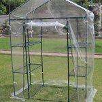 Small-3-tier-Walk-in-Greenhouse-with-6-Shelves-and-Clear-PVC-Cover-0-1