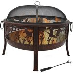 Sunnydaze-Pheasant-Hunting-Fire-Pit-30-Inch-Diameter-with-Spark-Screen-0