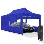 Vispronet-10×20-Steel-Carport-Canopy-Tent-with-2-10×20-Window-Walls-1-10×10-Full-Wall-Roller-Bag-and-Stake-Kit-0
