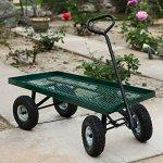 WShop-Garden-Wagon-Nursery-Cart-10-Pneumatic-Tires-1000lbs-44-X-20-Outdoor-Holds-Wheelbarrow-Heavy-Duty-98-0-0