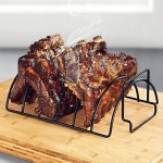 Xiaolanwelc-Non-Stick-Stainless-Steel-BBQ-Tools-Steak-Holders-Rack-Grill-Stand-Roasting-BBQ-Rib-Rack-Kitchen-Accessories-0
