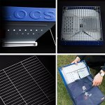 YI-HOME-Barbecue-Outdoor-Charcoal-Stainless-Steel-Folding-Courtyard-S-BBQ-Grill-Tool-Blue-35Cm28Cm-0-1