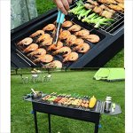 YI-HOME-Barbecue-Outdoor-Stainless-Steel-BBQ-Home-Large-Park-Picnic-Charcoal-Grill-Tool-Black-665Cm70Cm-0-2