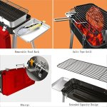 YI-HOME-Portable-BBQ-Outdoor-Folding-Barbecue-Stainless-Steel-Large-Capacity-Camping-Grill-Tool-Red65Cm765Cm-0-1