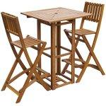 vidaXL-Patio-Bar-Table-and-Chairs-Set-Acacia-Wood-Outdoor-Restaurant-Cafe-Pub-0