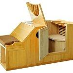 1-Person-Half-Sauna-FIR-FAR-Infrared-Heat-7-Carbon-Heaters-141-Degrees-120V-Hemlock-Wood-Portable-0-0