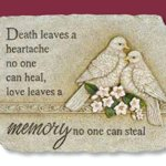 105-Religious-Memories-Bird-and-Flower-Outdoor-Garden-Cemetery-Marker-Stone-0