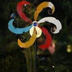 Alpine-Corporation-YCC212SLR-Solar-Metal-Windmill-with-Ball-Multicolor-0-1