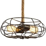 BAYCHEER-HL422086-Industrial-Retro-Vintage-style-with-3937-inch-hemp-rope-2-Lights-Chandelier-Pendant-Light-Lampe-use-E2627-Bulb-0