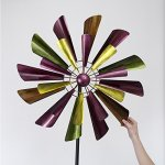 Bits-and-Pieces-Autumn-Palette-Wind-Spinner-28-in-Diameter-Two-Level-Kinetic-Windspinner-Unique-Outdoor-Lawn-and-Garden-Dcor-0-0