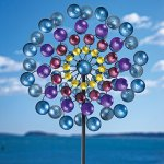 Bits-and-Pieces-Multi-Colored-72-Metallic-Wind-Spinner-Windspinner-Made-of-Metal-and-Steel-Unique-Outdoor-Lawn-and-Garden-Dcor-0-0