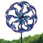 Bits-and-Pieces-Wind-Powered-LED-Sea-Breeze-Wind-Spinner-Decorative-Lawn-Ornament-Wind-Mill-Spectacular-Kinetic-Garden-Spinner-with-Light-Show-0