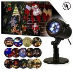 Bjour-Christmas-Light-Projector-Outdoor-Indoor-Decorations-Waterproof-with-14-Rotating-Slides-and-4-Speed-Modes9W-UL-Listed-YG-FL02-14-Rotating-Slides-0