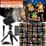 Christmas-LED-Projector-Lights20-Slides-Waterproof-IP65-Landscape-10W-Motion-Lamp-Projector-with-Remote-Control32ft-Power-Cable-for-Decoration-on-Halloween-Thankgiving-Party-0