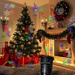 Christmas-Lights-Projector–Multicolor-Rotating-Led-Christmas-Shower-lights-10PCS-Pattern-Waterproof-Lens-Christmas-Projector-Lights-Outdoor-Indoor-for-Celebration-Garden-Decorations-and-more-0-1