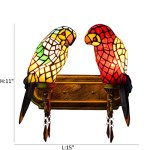 FUMAT-Tiffany-Mirror-Front-Light-Parrot-2-Heads-Wall-Lighting-Stained-Glass-E26-LEDWall-Lamp-110V-Retro-Bedside-Wall-Light-Bird-Passage-Wall-Lights-0-0