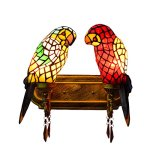 FUMAT-Tiffany-Mirror-Front-Light-Parrot-2-Heads-Wall-Lighting-Stained-Glass-E26-LEDWall-Lamp-110V-Retro-Bedside-Wall-Light-Bird-Passage-Wall-Lights-0