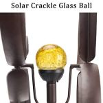 GIGALUMI-Solar-Wind-Spinner-with-Crackle-Glass-Ball-Solar-Lights-255-Dia-Bronze-Powder-Coated-Finish-Dual-Rotors-Wind-Sculpture-for-Yard-Art-or-Garden-Decoration-0-2