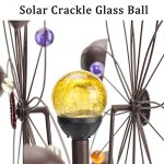 GIGALUMI-Solar-Wind-Spinner-with-Crackle-Glass-Ball-Solar-Lights-255-Dia-Bronze-Powder-Coated-Finish-Dual-Rotors-Wind-Sculpture-for-Yard-Art-or-Garden-Decoration-0-5