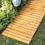 Garden-Pathway-8Ft-Walkway-Wooden-Portable-Lawn-Landscaping-Outdoor-Path-0