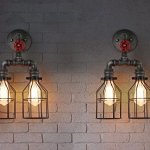 Injuicy-Lighting-Retro-Cages-Industrial-Vintage-Edison-Rust-Loft-Wall-Light-Waterpipe-Double-Lamp-0-0