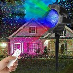 LED-Snowfall-LightMUEQU-Waterproof-Rotating-Christmas-Spotlights-LED-Projector-Light-with-Remote-ControlOutdoor-Indoor-Landscape-Snowflake-Decorative-lighting-for-Garden-Wedding-Party-0