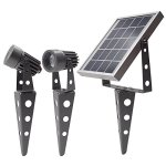 Mini-50X-Twin-Solar-Powered-LED-Spotlight-Cool-White-LED-Gunmetal-Finish-0