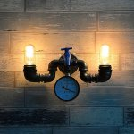 Modeen-Vintage-Industrial-Sturdy-Oil-Rubbed-Black-Wrought-Iron-Faucet-2-Lights-Water-Pipe-Pressure-Gauge-Wall-Light-Retro-Beacon-Tube-Wall-Lamp-Kitchen-Restaurant-Hotel-Barn-Lighting-Fixture-0