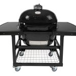 Primo-Oval-XL-400-Ceramic-Smoker-Grill-On-Cart-with-2-Piece-Island-Top-0