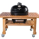 Primo-Oval-XL-400-Ceramic-Smoker-Grill-On-Curved-Cypress-Table-Jack-Daniels-Edition-0