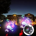 Projector-Light-with-12-Patterns-Gobos-Replaceable-Slides-LED-Party-Light-Waterproof-Projector-Spotlight-for-Halloween-Christmas-Party-Valentines-DayHome-Decoration-by-UKing-0-1