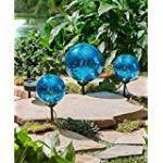 Set-of-3-Solar-Gazing-Ball-Stakes-Blue-0