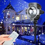 Snowfall-Led-LightsYAOXI-Waterproof-Christmas-Rotating-Fairy-Snowflake-Outdoor-Projector-Lamp-with-Wireless-Remote-for-Garden-Halloween-Christmas-Holiday-Wedding-Party-Decorations-0