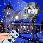Snowfall-Light-Projector-AVEKI-Rotating-Waterproof-White-Snowflake-Fairy-Landscape-Projection-Lights-with-Wireless-Remote-for-Outdoor-Wedding-Christmas-Halloween-Holiday-Outside-Decoration-0