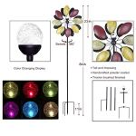 Solar-Wind-Spinner-7-Foot-Tricolor-Multi-Color-LED-Lighting-by-Solar-Powered-Glass-Ball-Perfect-Gardening-Gift-Amongst-Wind-Spinners-and-Windmills-Yard-Art-with-Kinetic-Dual-Direction-Spinning-0-1