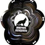 Stainless-Steel-German-Shepherd-Dog-12-Inch-Wind-Spinner-Black-0