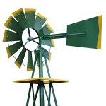 Super-Deal-8-Iron-Windmill-Ornamental-Garden-Weather-Resistant-Weather-Vane-0-2