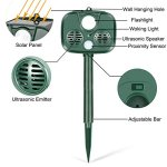 TTMOW-Solar-Ultrasonic-Animal-Repellent-and-Pest-Repeller-with-UltrasonicFlash-Light-and-Alarm-SoundWaterproof-Outdoor-UseBatteries-Included-Repel-Cats-Mice-Snakes-and-Other-Animals-0-0