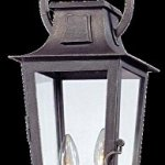 Troy-Lighting-French-Quarter-2-Light-Outdoor-Pendant-Aged-Pewter-Finish-with-Clear-Glass-0