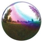 VCS-RNB12-Mirror-Ball-12-Inch-Rainbow-Stainless-Steel-Gazing-Globe-0