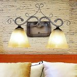 Wall-Lamp2-Light-Traditional-Iron-Resin-Glass-Painting-0-1