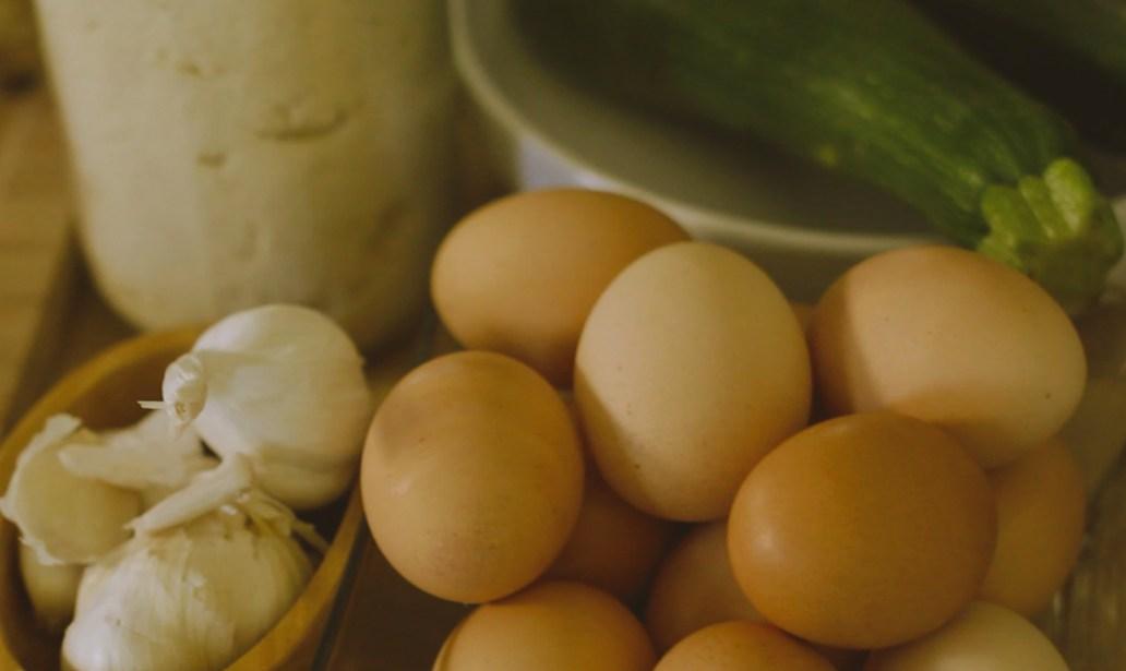Eggs, Zucchini and Garlic