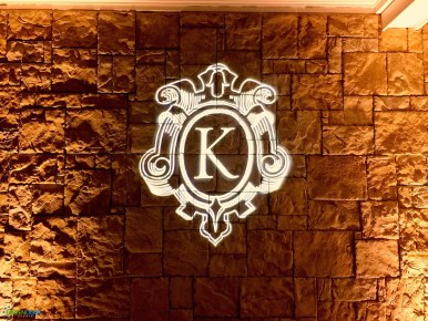 Custom gobo monogram at the Golf Club at Newcastle by GreenLight Events