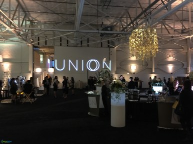 Custom gobo monogram for UNION by GreenLight Events