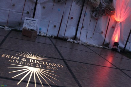 Custom gobo monogram by GreenLight Events