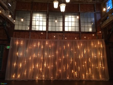 String lighting at SoDo Park by GreenLight Events