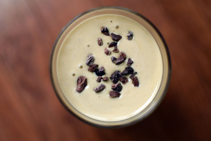 Peanut Butter Protein Bliss Smoothie from top