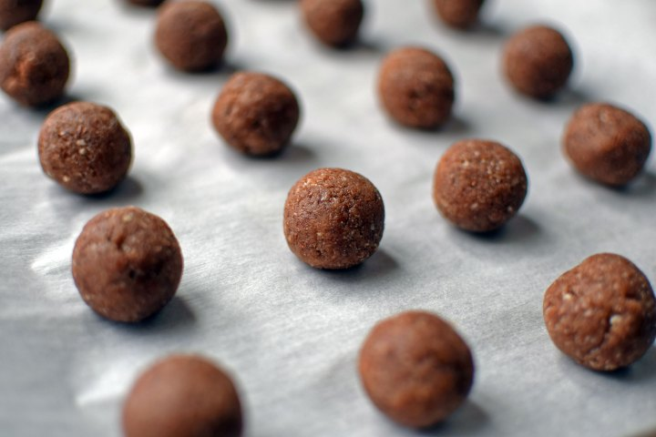 Cinnamon Almond Snowball Cookies Before Baking