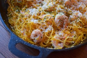 "Garlic Shrimp with Butternut Squash ""Noodles"" 2"